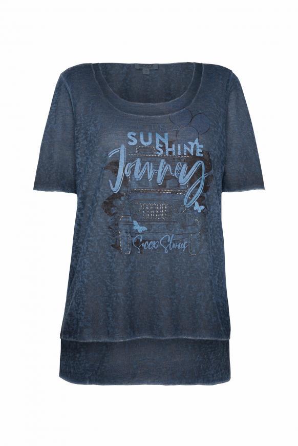 2-in-1 Layering Shirt mit Artwork blue navy