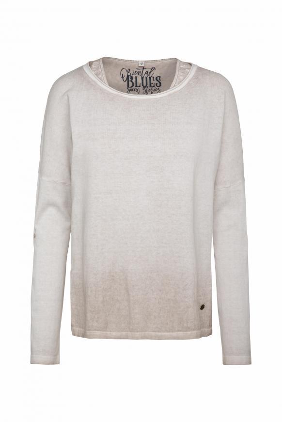 2-in-1 Pullover mit Used-Färbung desert beige