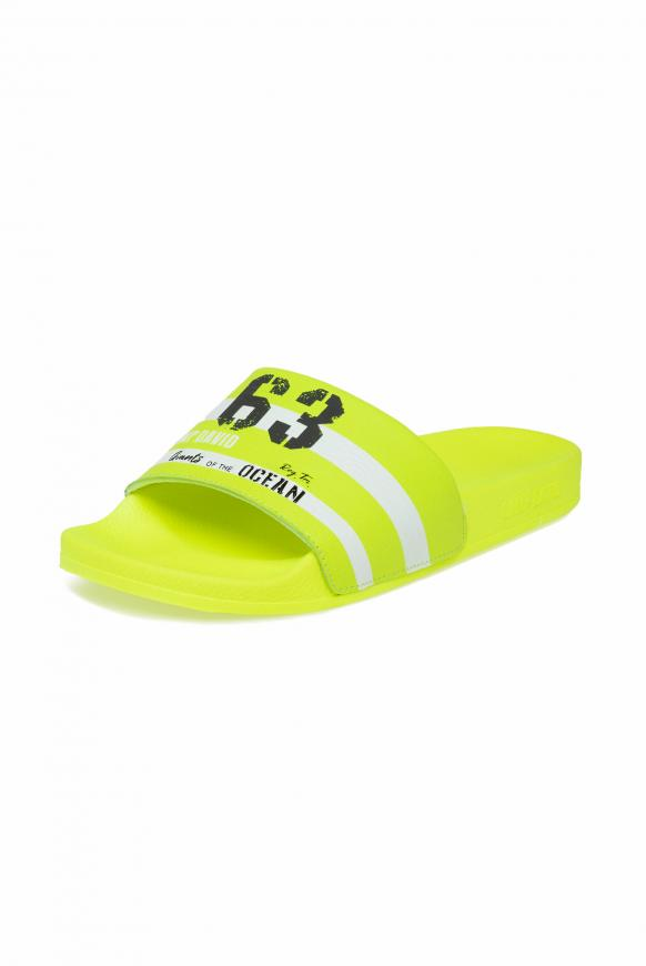 Badesandale mit Logo Artwork neon yellow