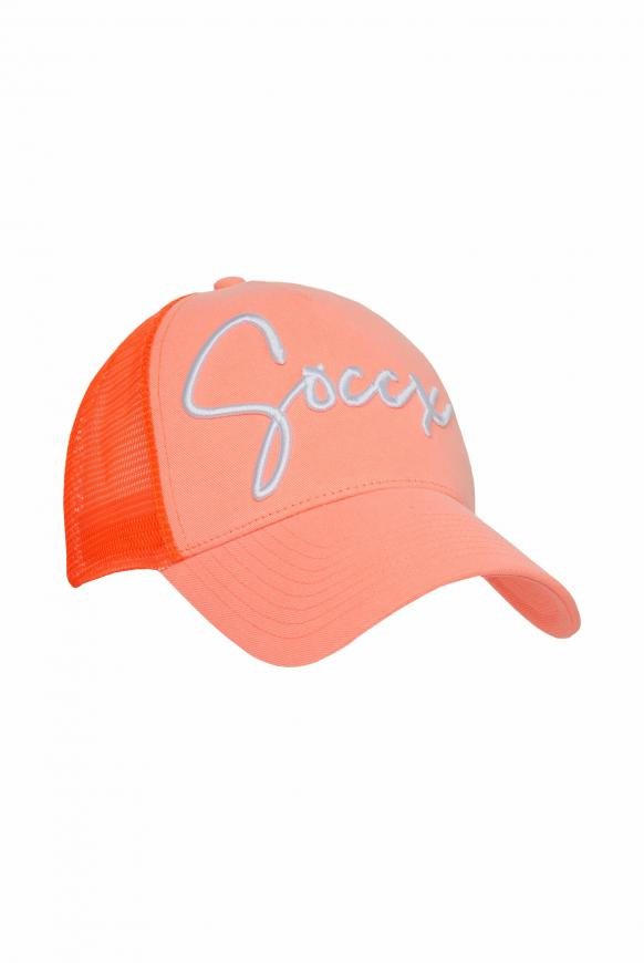Base Cap mit 3D-Logo-Stickerei neon orange