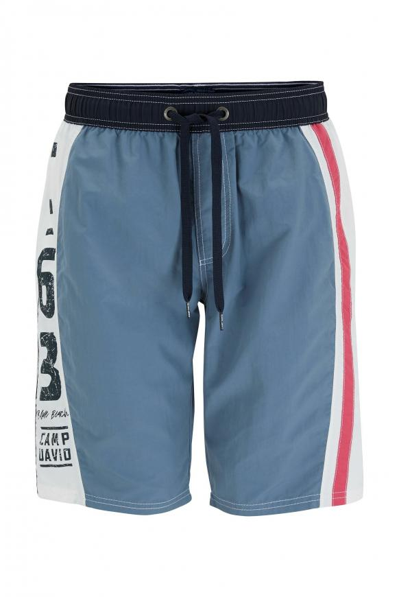 Beachshorts mit Colour-Design und Print cliff grey