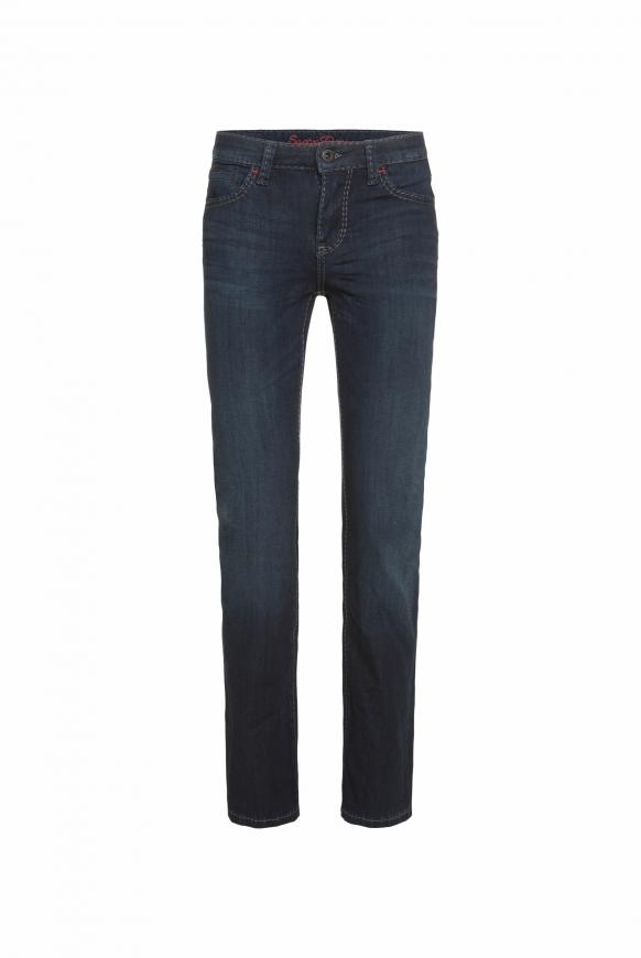 Bi-Elastic Denim RO:MY mit Used-Waschung Regular Fit deep blue used