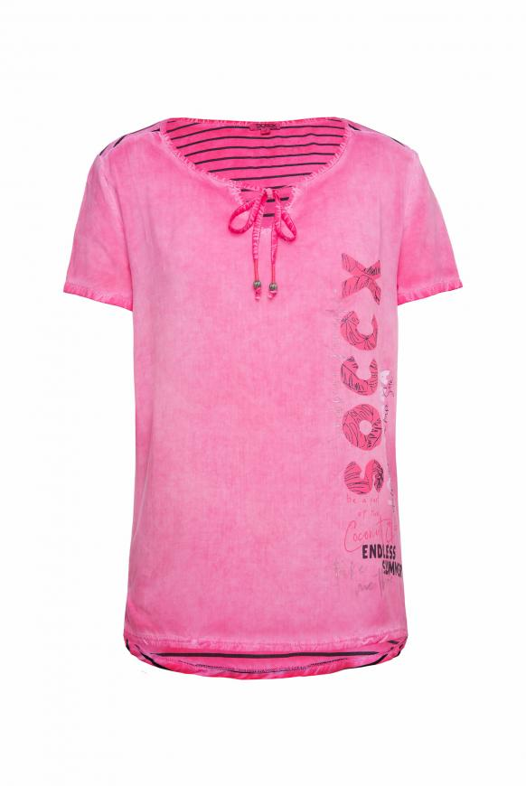 Blusenshirt mit gestreifter Rückseite oriental pink
