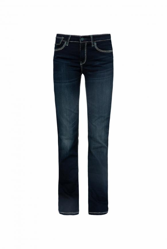 Bootcut Jeans CO:LE mit Wrinkle-Effekte grey used