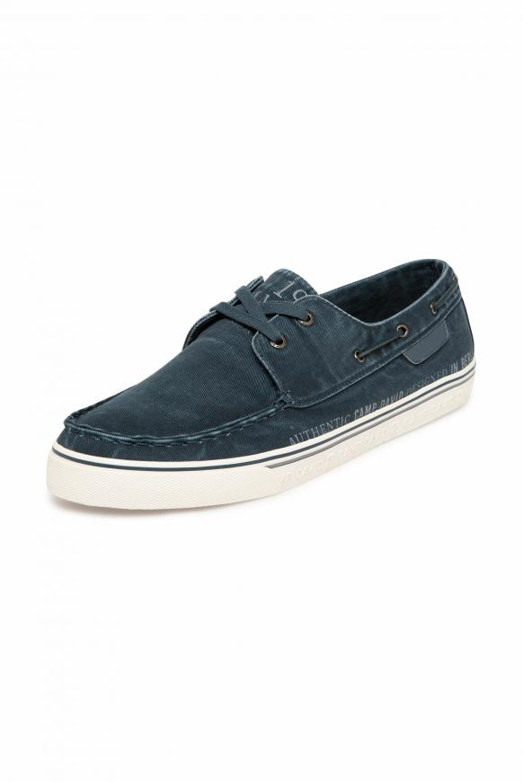 Bootsschuh aus Canvas moon blue