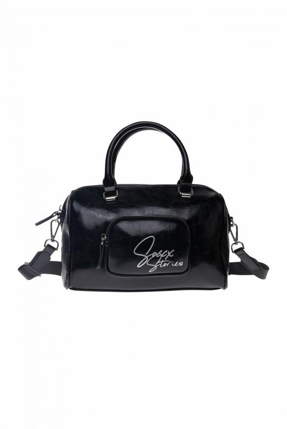 Bowling Bag aus Lederimitat black