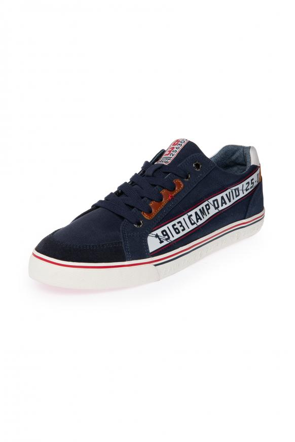 Canvas Sneaker mit Logo Artworks thunder blue