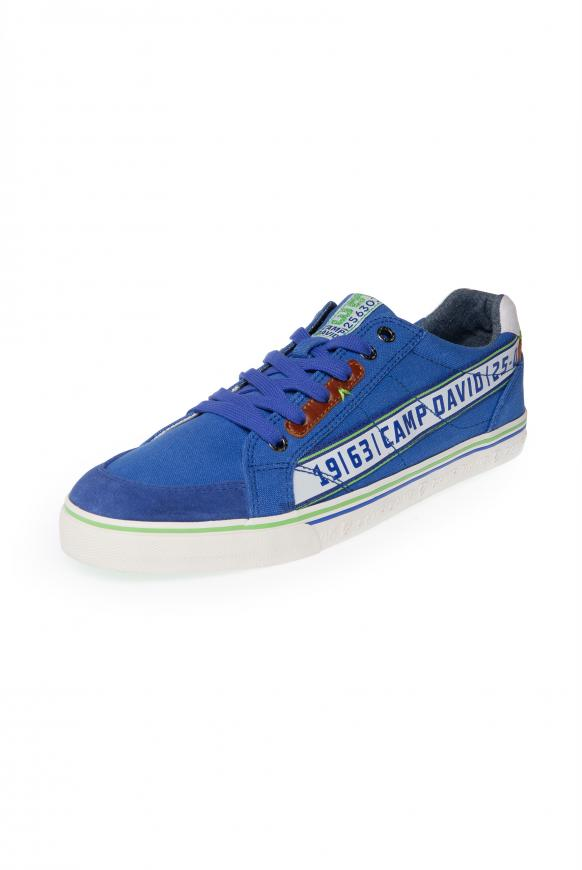 Canvas Sneaker mit Logo Artworks action blue