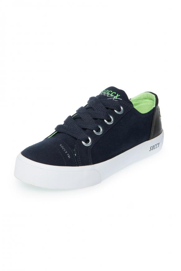Canvas Sneaker mit Plateau-Sohle anthra
