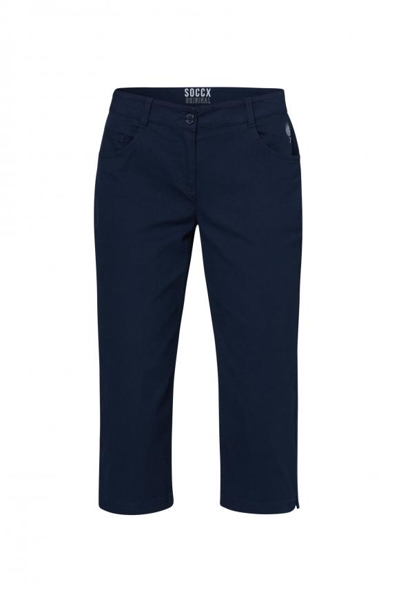 Caprihose im Five-Pocket Style blue navy