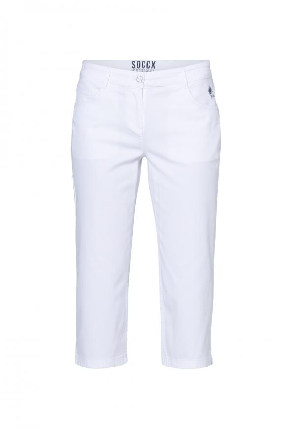 Caprihose im Five-Pocket Style opticwhite