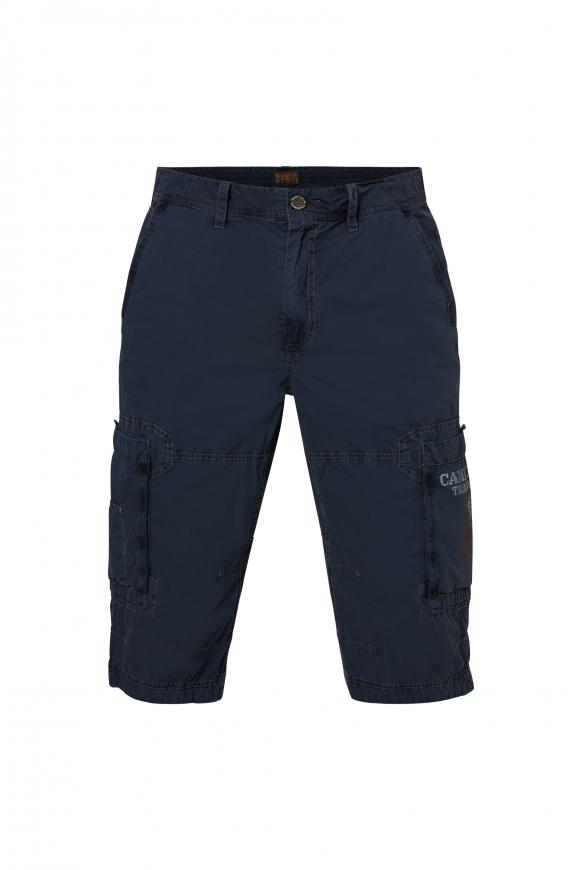 Cargo Bermuda mit tonigen Tapes raw blue