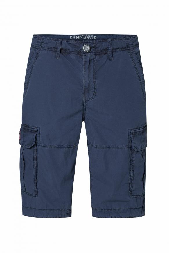 Cargo Shorts mit Klappentaschen dusty blue