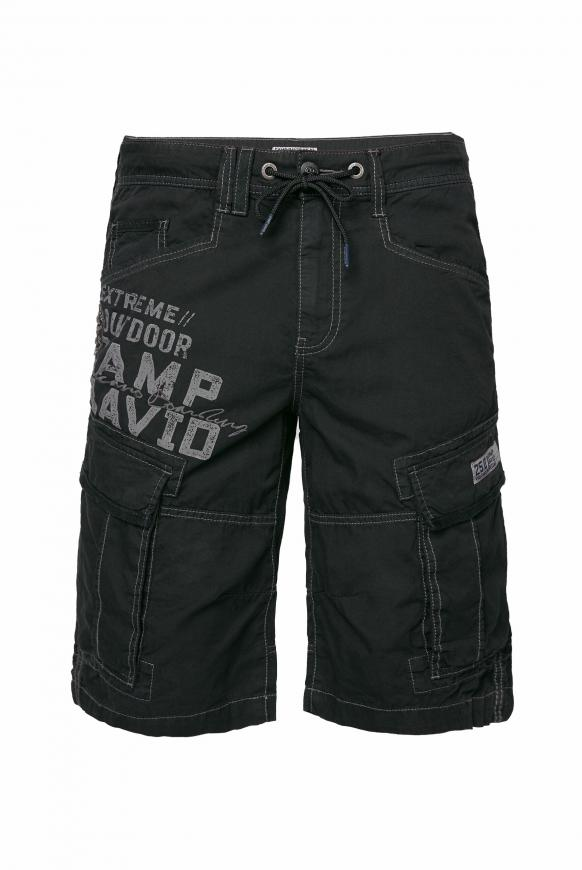 Cargo Shorts mit Logo-Applikationen black