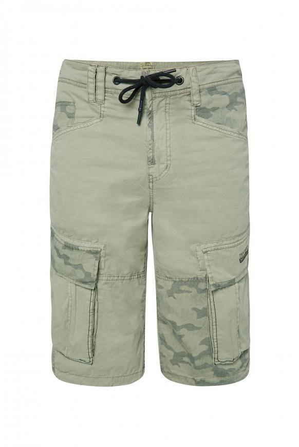 Cargo Shorts mit Print-Details treasure green