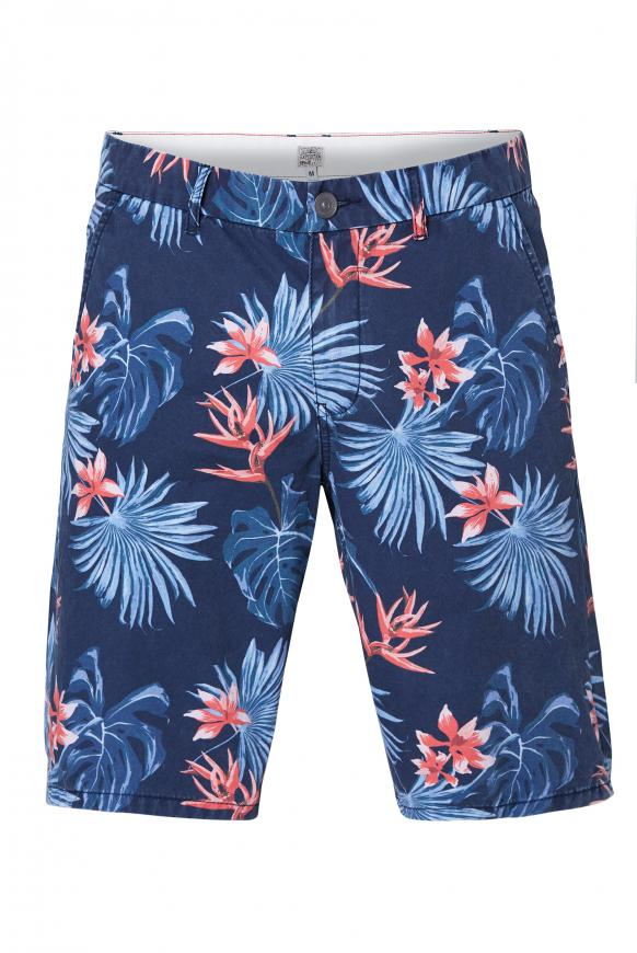 Chino Shorts mit All Over Print blue navy