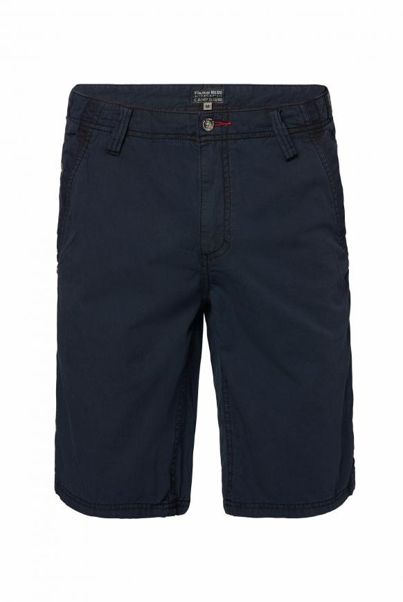 Chino Shorts Stone Washed mit tonigen Tapes