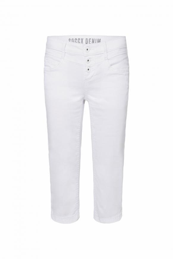 Coloured Capri Jeans LY:IA mit Knopfleiste opticwhite