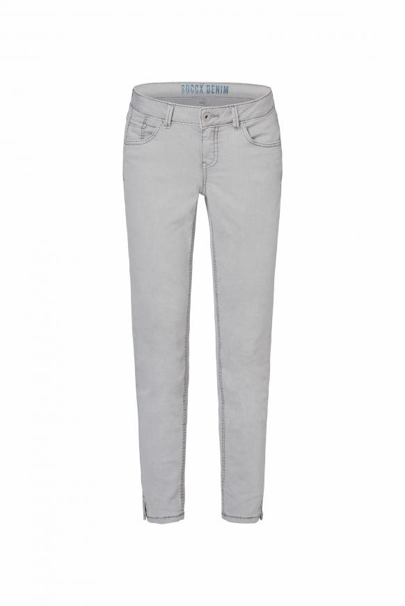 Coloured Denim MI:RA mit verkürztem Bein light grey
