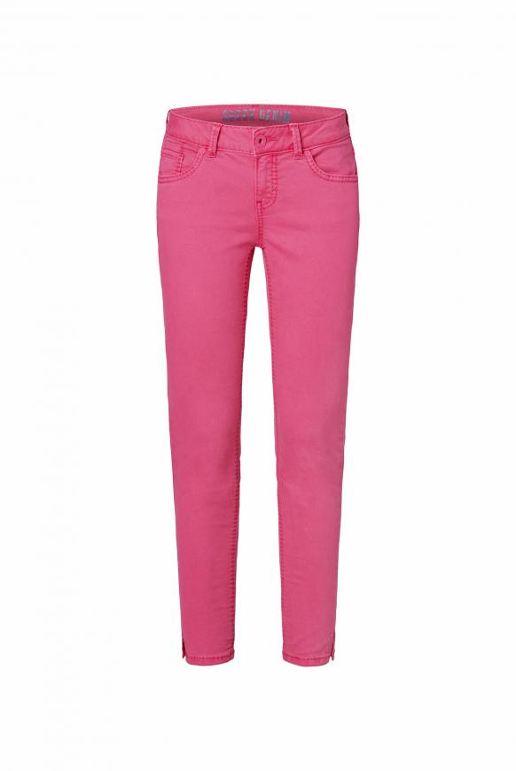 Coloured Denim MI:RA mit verkürztem Bein oriental pink