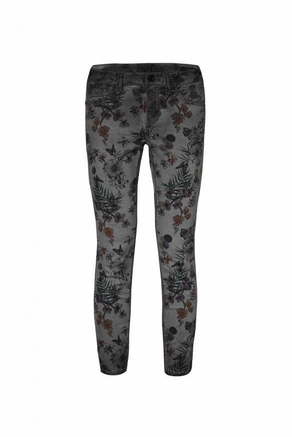 Coloured Jeans MI:RA mit All Over Print fog black
