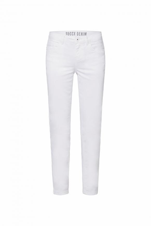 Coloured Jeans MI:RA mit tonigen Nähten opticwhite
