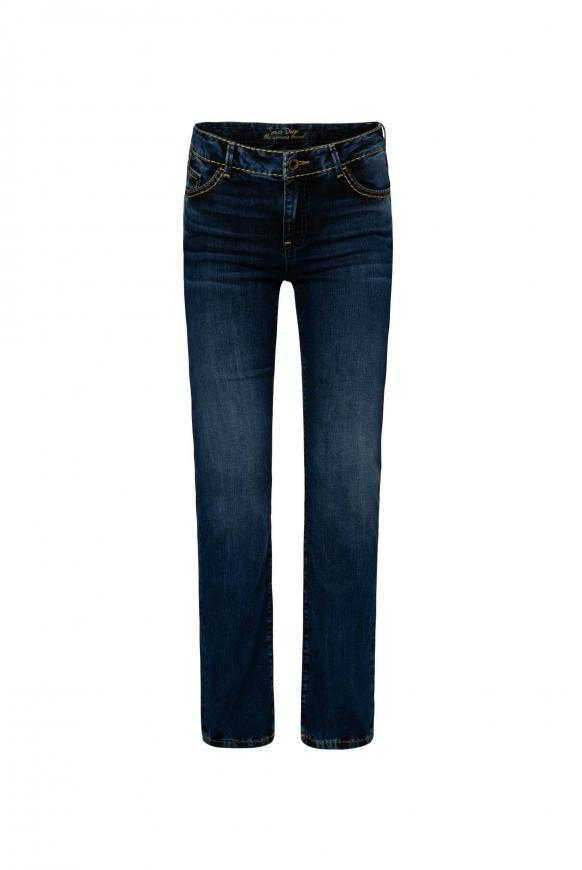 Comfort Shape Jeans EL:KE mit leichtem Boot Cut dark used