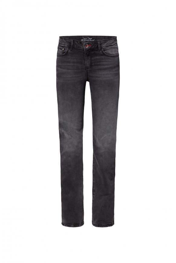 Comfort Shape Jeans EL:KE mit Used-Optik anthra used