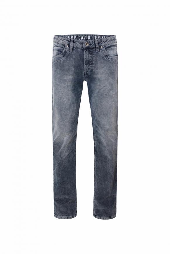 Cordhose RU:SL mit Used-Waschung blue
