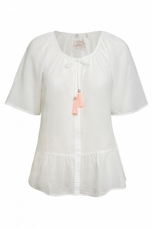 Crepe-Bluse im Boho-Style ivory