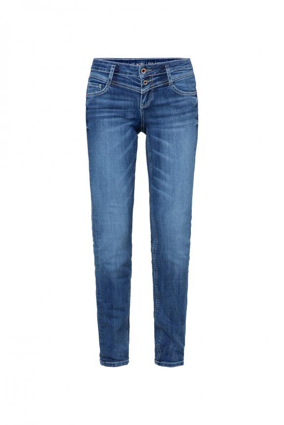 Dark used Jeans KA:RA mit Doppelknopf dark used