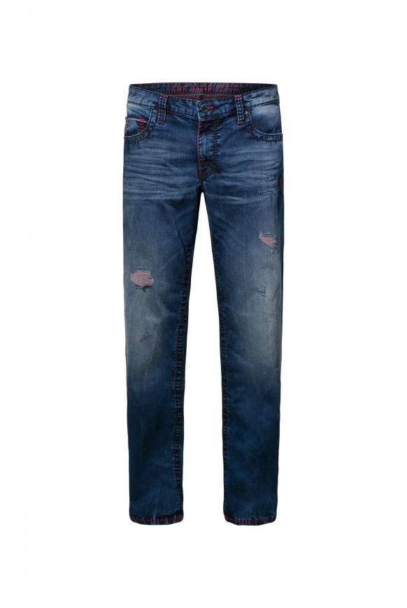 Destroys und gefärbter Innenseite Jeans CO:NO blue aged