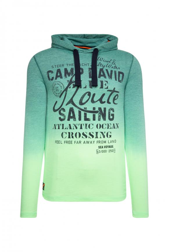Dip Dye Kapuzenshirt mit Label Print neon green