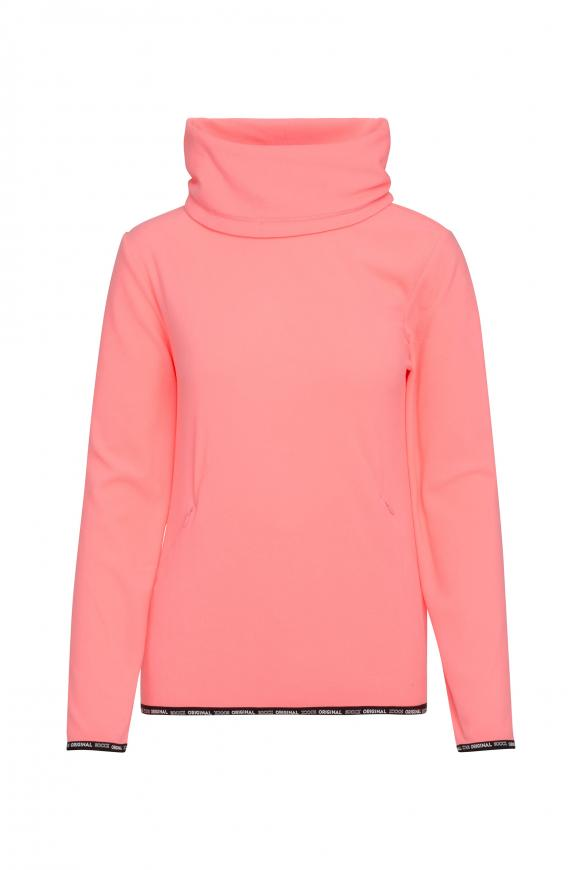 Fleece-Pullover mit Back Artwork neon pink