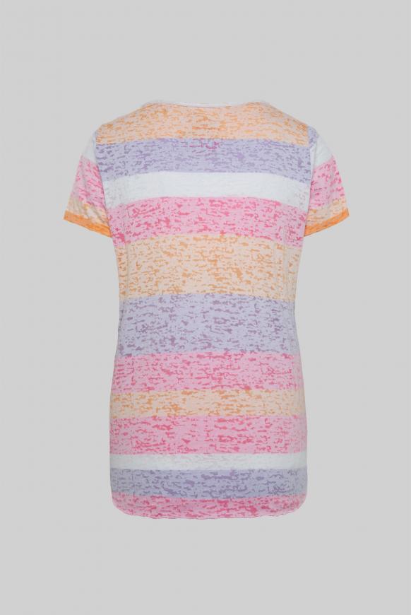 Gestreiftes Ausbrenner-Shirt mit Glitter Artwork multi color
