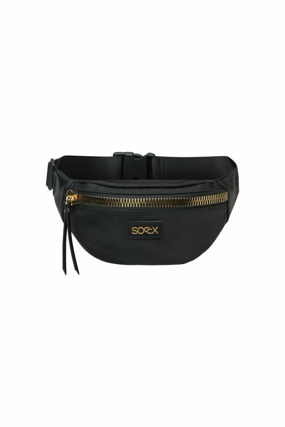 Gürteltasche aus Nylon mit Golden Zipper black