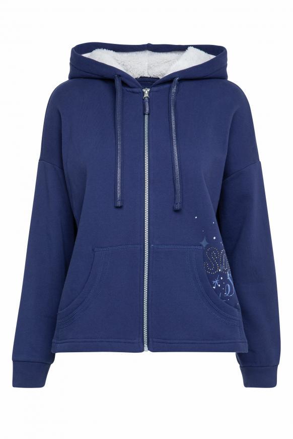 Hoodie Jacket mit funkelndem Back Artwork universe blue