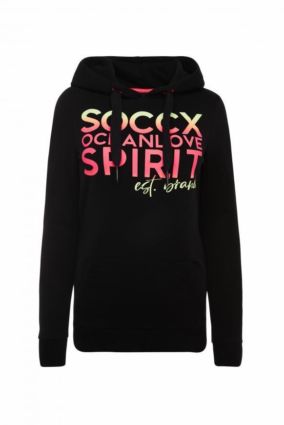 Hoodie mit Colour Print mit Farbverlauf black