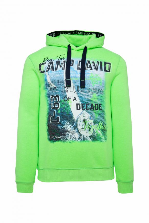 Hoodie mit Special Photoprints neon green