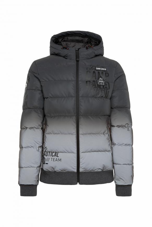 Jacke mit reflektierendem Farbverlauf grey