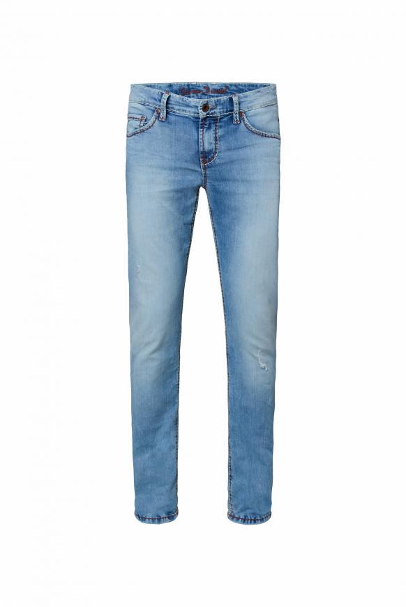Jeans BR:AD im Used Look mit bunten Nähten light used