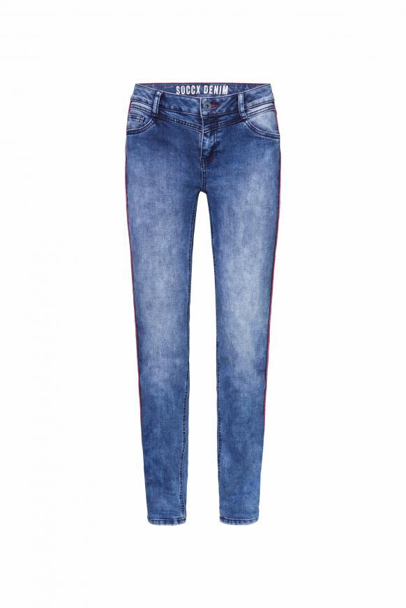 Jeans CH:EA mit Piping und gefärbter Innenseite dawn blue used