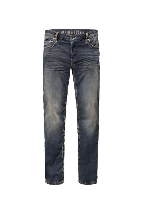 Jeans CO:NO aus Sweatmaterial im Denim Look blue black jogg