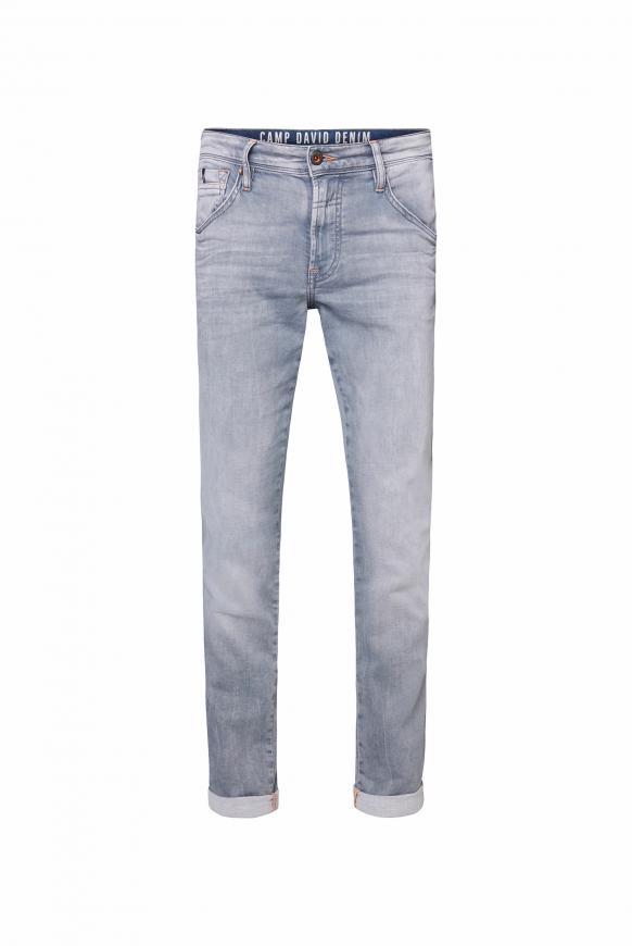 Jeans DA:VD aus Jogg Denim im Used Look light grey jogg