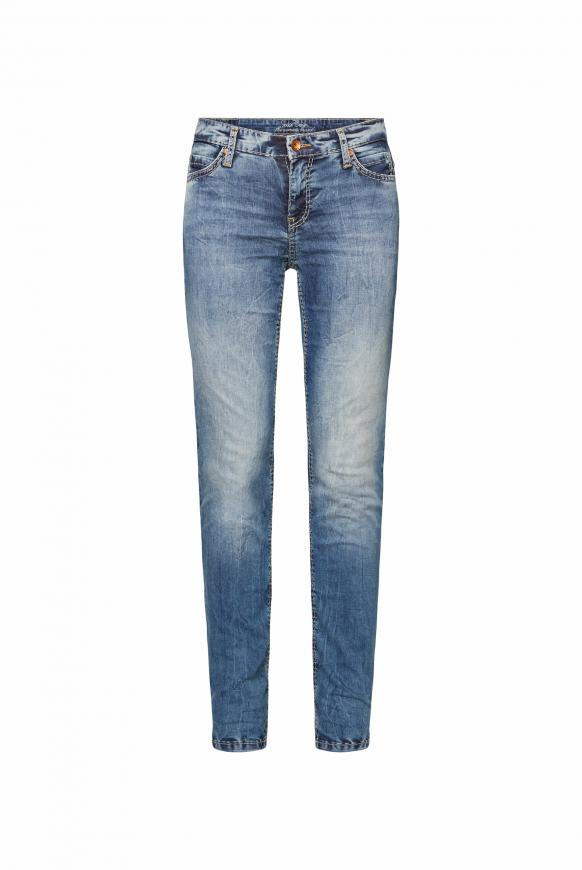 Jeans HE:DI mit Bleaching-Effekten authentic blue