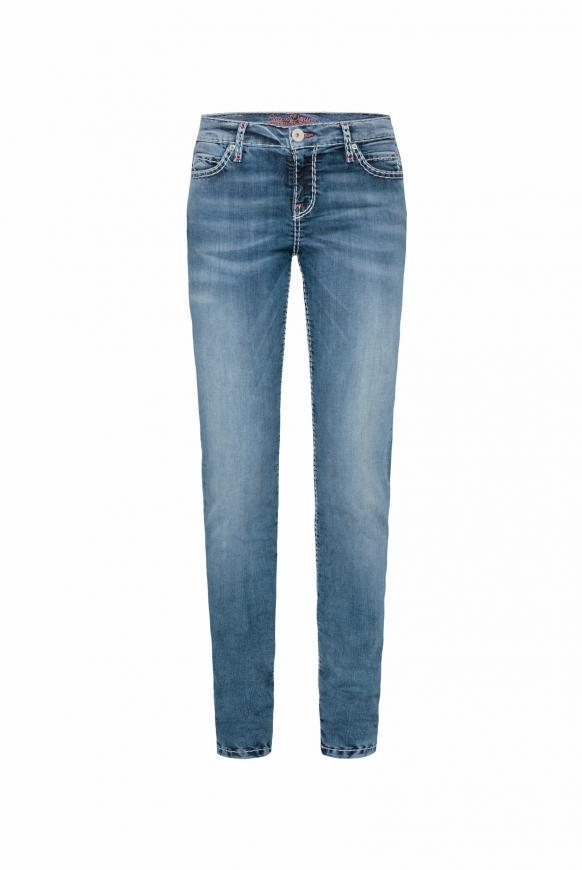 Jeans HE:DI mit Stretch und Vintage-Waschung vintage stone