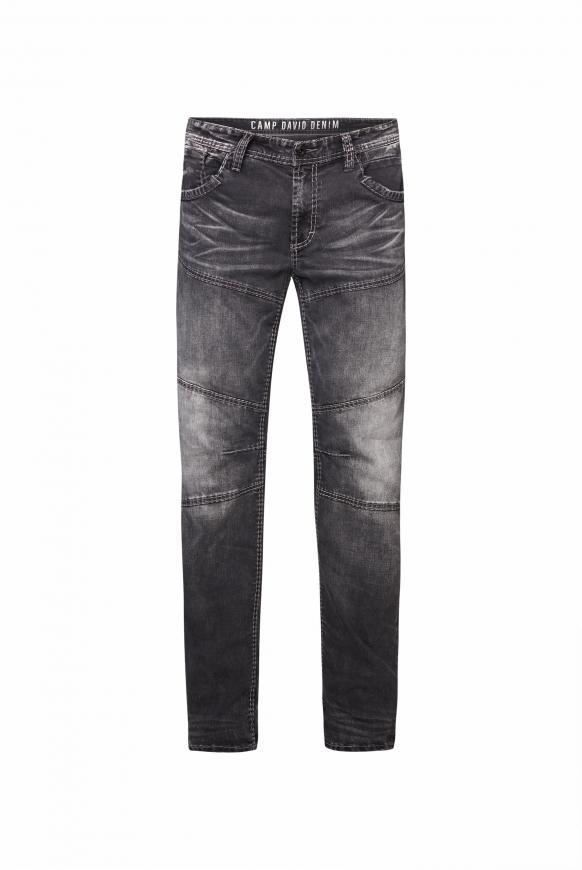 Jeans HE:RY im Vintage Look mit Teilungsnähten dark grey used