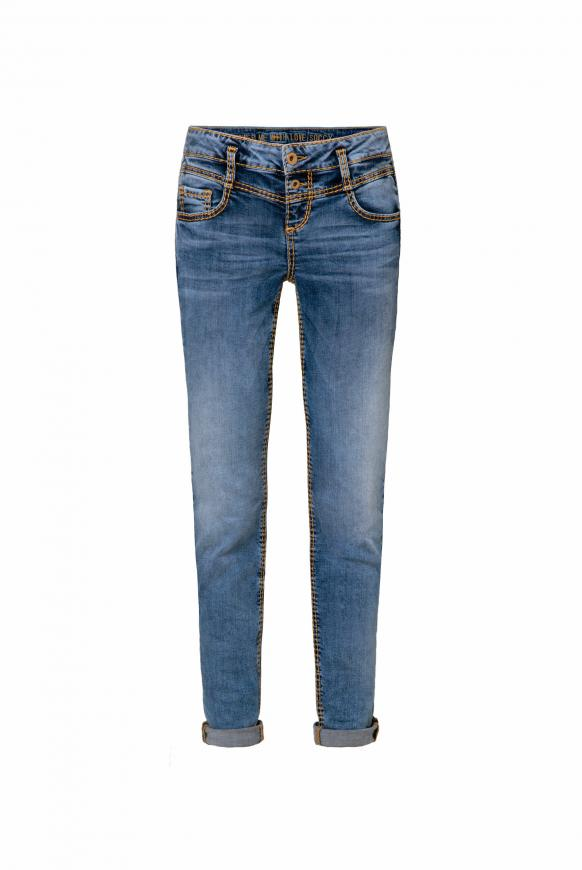 Jeans KA:RA mit Used-Optik und Back Prints blue aged