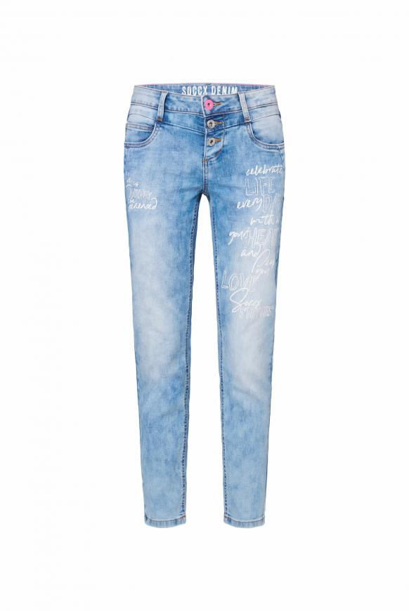 Jeans MI:RA Acid Washed mit Prints sun bleached