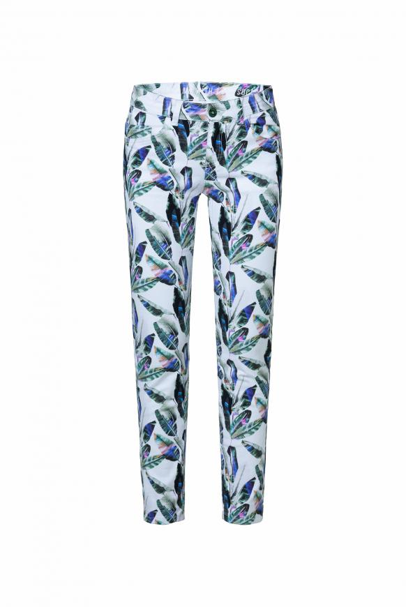 Jeans MI:RA mit All Over Print white